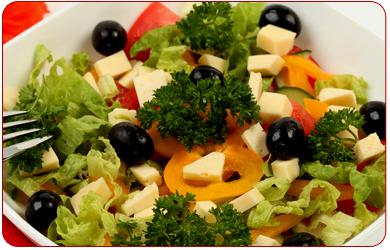 Notre carte des salades
